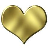 Golden Heart royalty free illustration