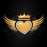 Golden Heart Royalty Free Stock Photos