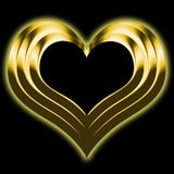 Golden heart. A Shiny metallic golden heart Royalty Free Stock Photography
