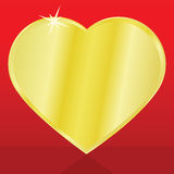 Golden heart Royalty Free Stock Photography