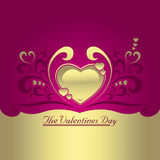 Golden heart. A great valentines day collection Stock Photography