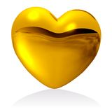 Golden heart. Royalty Free Stock Photos