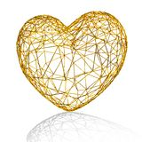 Golden heart as cage. Stock Photography