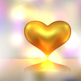 Golden heart background Stock Images