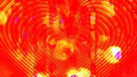 Golden heart beat among lights flares stock video
