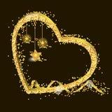 Golden heart Stock Images
