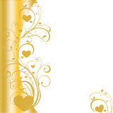Golden heart border vector