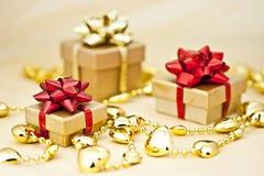 Golden heart chain. Royalty Free Stock Photo