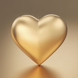 Golden heart - clipping path Royalty Free Stock Photos