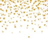 Golden Heart Confetti Stock Image