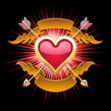 Golden heart design Stock Image