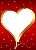 Golden heart-frame Stock Photo
