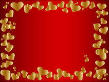 Golden heart frame Stock Photography