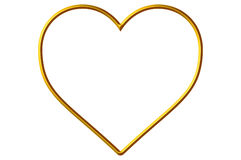 Golden Heart Frame/Border Stock Photos
