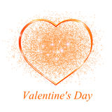 Golden heart in gift on Valentine's day Stock Photo