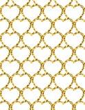 Golden Heart Glitter Background. Seamless pattern. Stock Photo