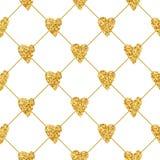 Golden Heart Glitter Background Stock Photos