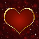 Golden Heart Holiday Bakcground Royalty Free Stock Photos