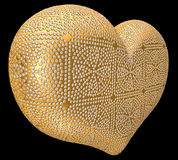 Golden heart inlaid with diamonds Royalty Free Stock Photography