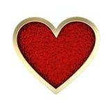 Golden Heart Royalty Free Stock Photos