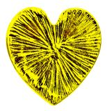 Golden heart isolated on the white Royalty Free Stock Photos