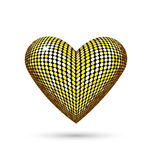 Golden heart isolated on white Stock Photo