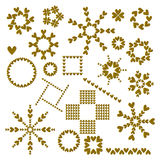 Golden Heart Ornament Collection Royalty Free Stock Photo