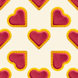 Golden Heart Pattern Stock Photography
