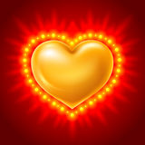 Golden heart Royalty Free Stock Image