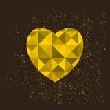 Golden heart, Stock Image