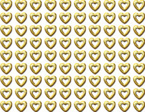 Golden heart seamless background Stock Photo