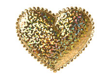 Golden Heart Shape Stock Photography