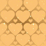 Golden heart shape. Abstract seamless background Royalty Free Stock Photos