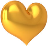 Golden heart shape (Hi-Res) Stock Image