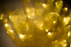 Golden Heart Shaped Bokeh Royalty Free Stock Image