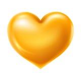Golden heart Stock Image