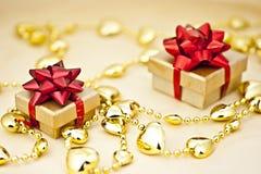 Golden heart strings. Stock Images