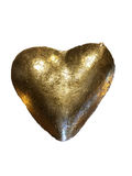 Golden heart style Royalty Free Stock Images