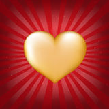 Golden Heart With Sunburst Royalty Free Stock Images