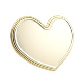 Golden heart symbol copyspace glossy emblem Stock Photos