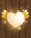 Golden heart for Valentine's Day Royalty Free Stock Photos