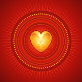 Golden heart,vector Stock Photo