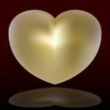 Golden heart. Vector illustration of a golden heart Royalty Free Stock Image