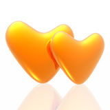 Golden hearts Stock Photography
