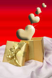 Golden Hearts royalty free stock images