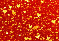 Golden hearts backgrounds. Love symbol texture Royalty Free Stock Photos
