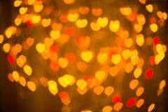 Golden hearts Royalty Free Stock Photos