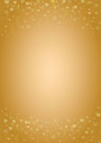Golden-hearts-love-background. A4 size vertical golden background with hearts header and footer Royalty Free Stock Image