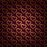 Golden hearts pattern Royalty Free Stock Images