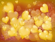 Yellow hearts Royalty Free Stock Images